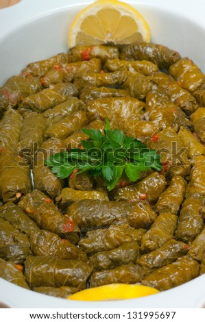 Dolmades Mediterranean  food - stock photo