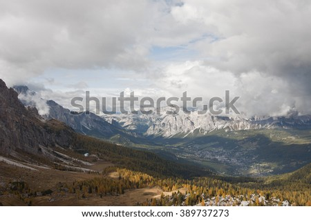 Dolomites, Italy. / The Dolomites  are a mountain range located in northeastern Italy. - stock photo