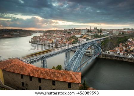 Dom Luis I Bridge, Porto - stock photo