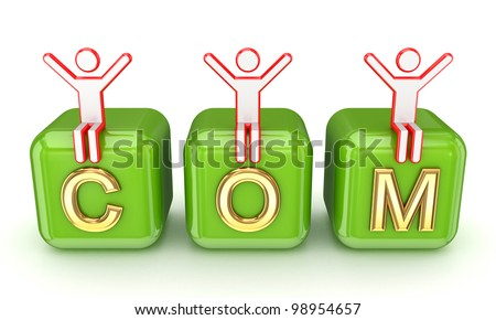 Domain concept.Isolated on white background.3d rendered. - stock photo