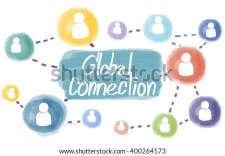 Domain Homepage HTML Links Global Connection Concept - stock photo