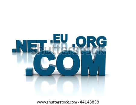 Domain name and internet concept - stock photo