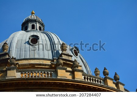 Dome against blue sky - stock photo