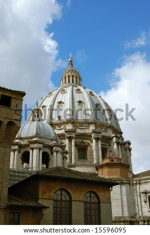 dome basilica the St. Peter in Vatican, Italy - stock photo