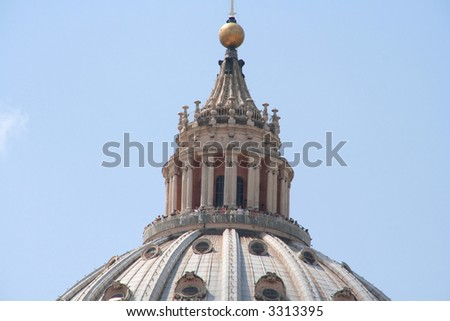 Dome of the St. Peter's Basilica, Rome, Italy - stock photo