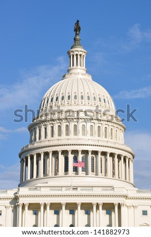 Dome of the United States Capitol Building in Washington, DC, USA. - stock photo