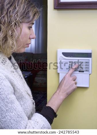 domestic alarm - stock photo