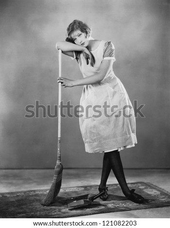 Domestic goddess - stock photo