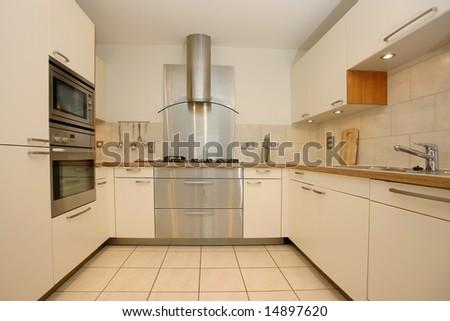 Domestic kitchen interior - stock photo