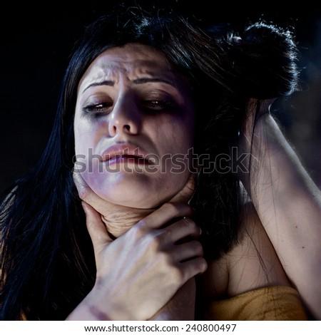 Domestic Violence - stock photo