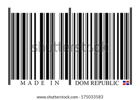 Dominican Republic barcode on white background - stock photo