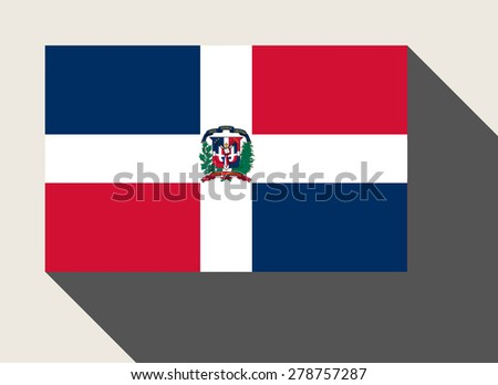 Dominican Republic flag in flat web design style. - stock photo