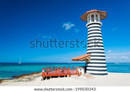 Dominican Republic Ocean Bar - stock photo