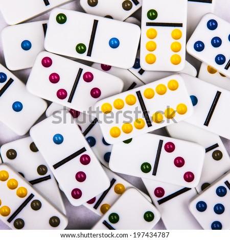 Domino background - stock photo