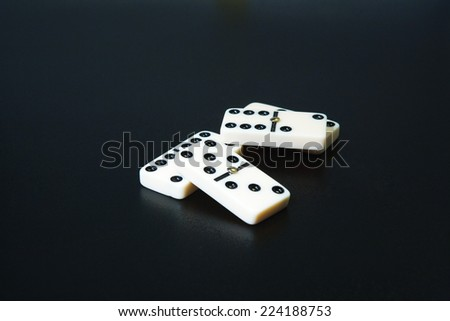 Dominoes, close-up - stock photo