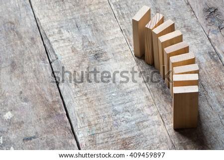 dominoes concept - stock photo