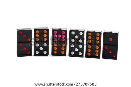 dominos on white background - stock photo