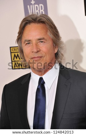 Don Johnson at the 18th Annual Critics' Choice Movie Awards at Barker Hanger, Santa Monica Airport. January 10, 2013  Santa Monica, CA Picture: Paul Smith - stock photo
