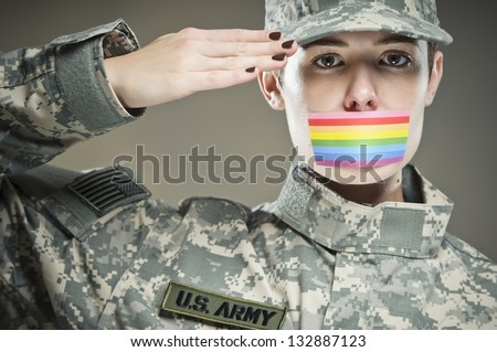 Don't Ask, Don't Tell - stock photo