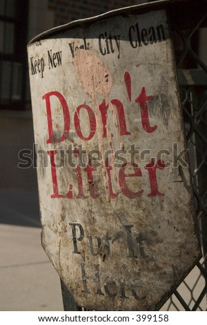 Don't Litter Please - stock photo