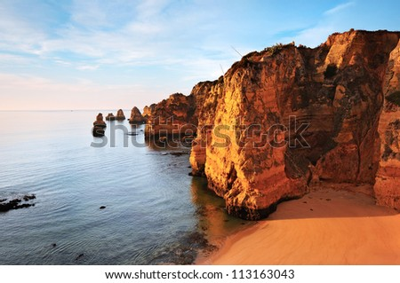 Dona Ana beach, Lagos, Portugal - stock photo