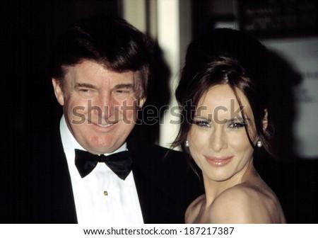 Donald Trump and Melania Knauss at the Film Society of Lincoln Center Honors for Susan Sarandon, NY 5/5/2003 - stock photo