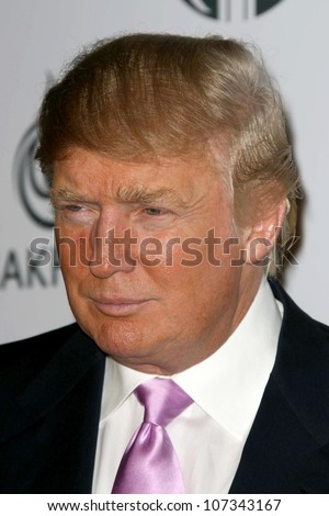 Donald Trump  at a party to introduce the Trump Tower Dubai. The Tar Estate, Bel Air, CA. 08-23-08 - stock photo