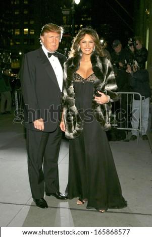 Donald Trump, Melania Trump at The Fashion Group International's Night of Stars, Cipriani Restaurant 42nd Street, New York, NY, October 27, 2005 - stock photo