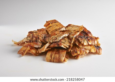Doner kebab is one of the most popular fast food dish in Middle Eastern and some European Countries - stock photo