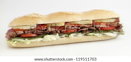 doner kebab sandwich - stock photo
