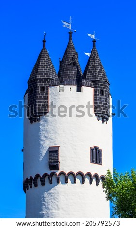 Donjon tower in Castle Park of Hanau-Steinheim, Germany  - stock photo