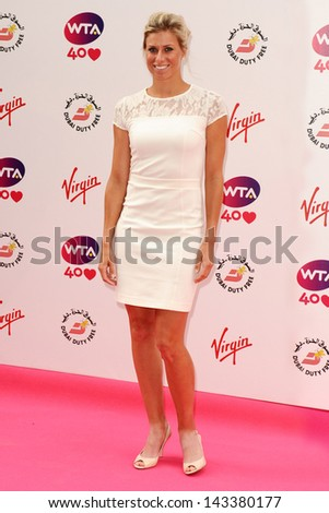 Donna Vekic arriving for the WTA Pre-Wimbledon Party 2013 at the Kensington Roof Gardens, London. 20/06/2013 - stock photo