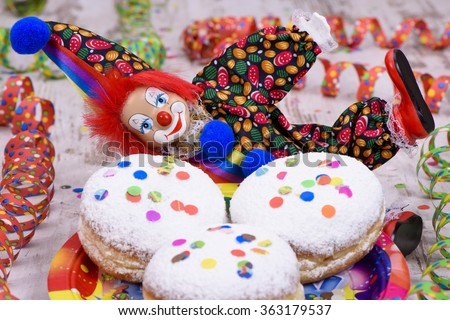donut at carnival with confetti - stock photo