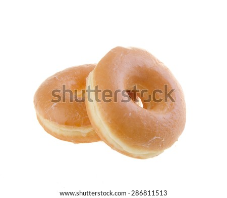donut. classic donut isolated on the background - stock photo