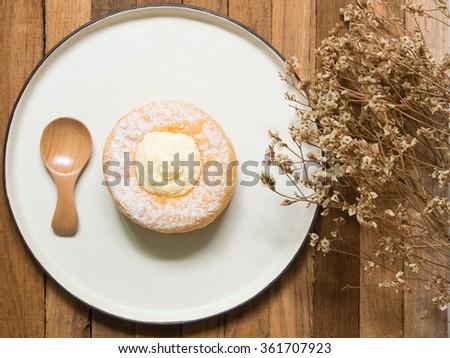 Donut cream - stock photo