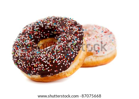 donut glaze on a white background - stock photo