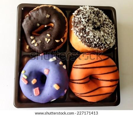 Donut isolate on white background - stock photo