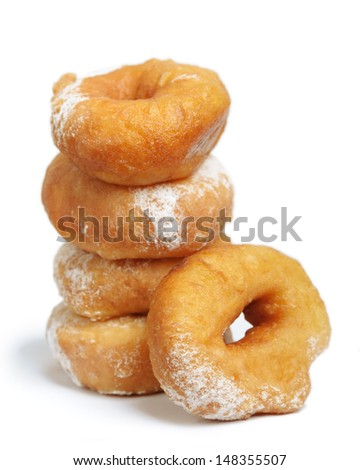 Donut isolated on white background - stock photo