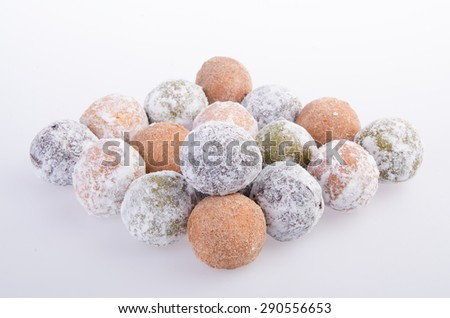 donut. munchkins donuts on the background - stock photo