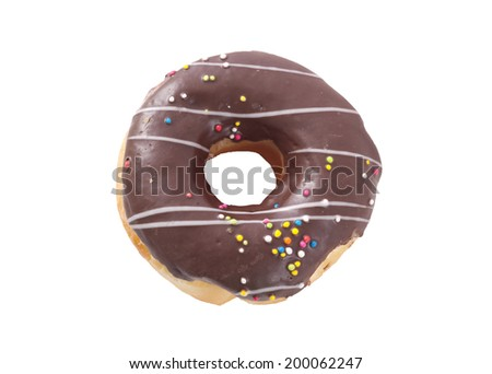donut on whte bangground - stock photo