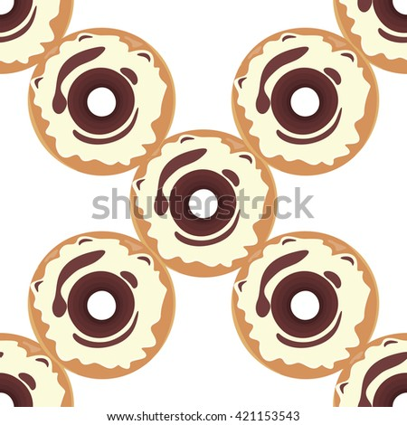 Donut seamless background texture pattern. Cute donuts with glazing. Seamless pattern. Delicious donut glazed. Donut pattern.  donuts pattern. Chocolate donuts. Isolated donuts seamless pattern - stock photo