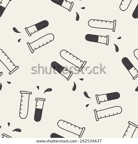 doodle chemistry seamless pattern background - stock photo
