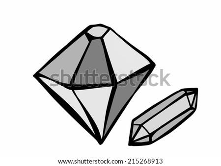 Doodle diamond - stock photo
