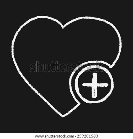Doodle Heart - stock photo