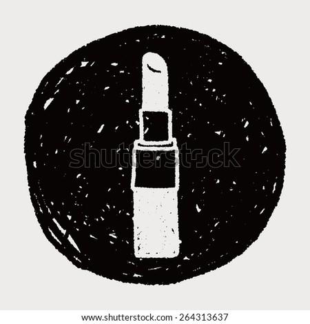 Doodle Lipstick - stock photo