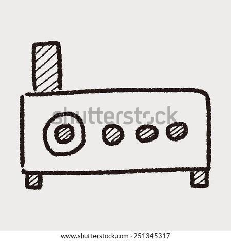 doodle modem - stock photo