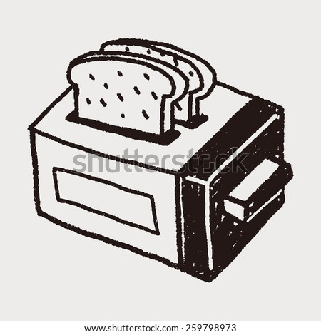 Doodle Toaster - stock photo