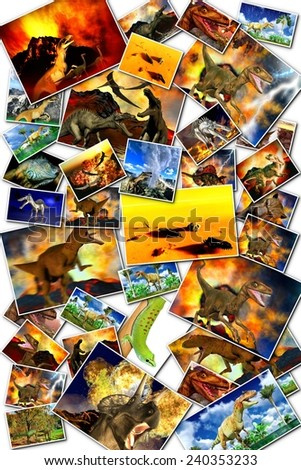 Doomsday in the world of dinosaurs - stock photo