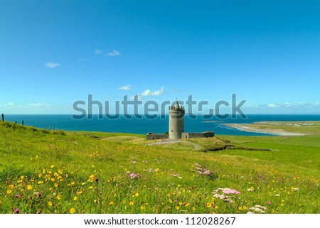 Doonagore castle near Doolin - Ireland - stock photo