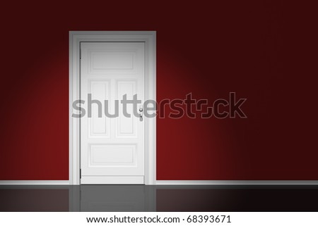 Door closed - stock photo